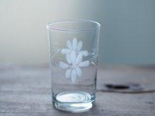 吹きガラスのコップ(花)