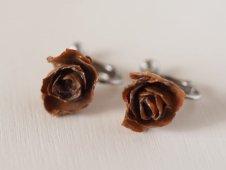 小花のイヤリング(バラ)