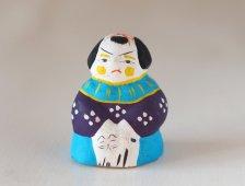 中湯川土人形 猫抱き唐児