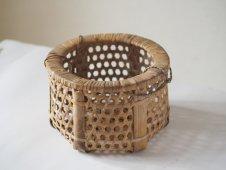 六ツ目編み 竹かご