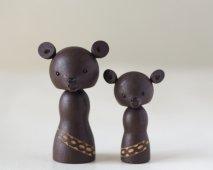 木彫りのくま(親子)