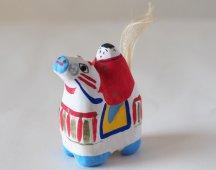三春張り子(子ども馬乗り)
