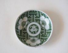 印判皿(梅・緑)