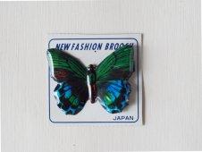 ブリキの蝶々バッジ(に)