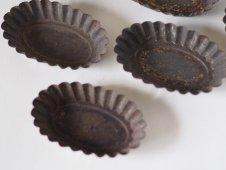 ブリキの菓子型(楕円)