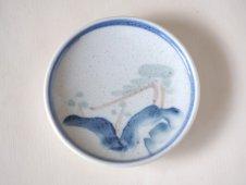 染付小皿(海と松)
