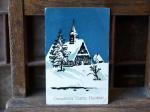 フィンランドのクリスマスカード(雪の家)