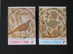 国連切手1969 民族の芸術切手・チュニジアのモザイク(2種)