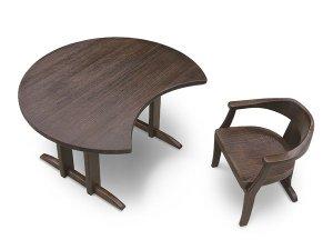 焼桐三日月型テーブル