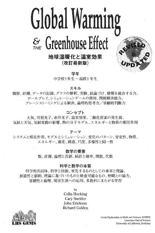 地球温暖化と温室効果 [Global Warming & Greenhouse Effect]1