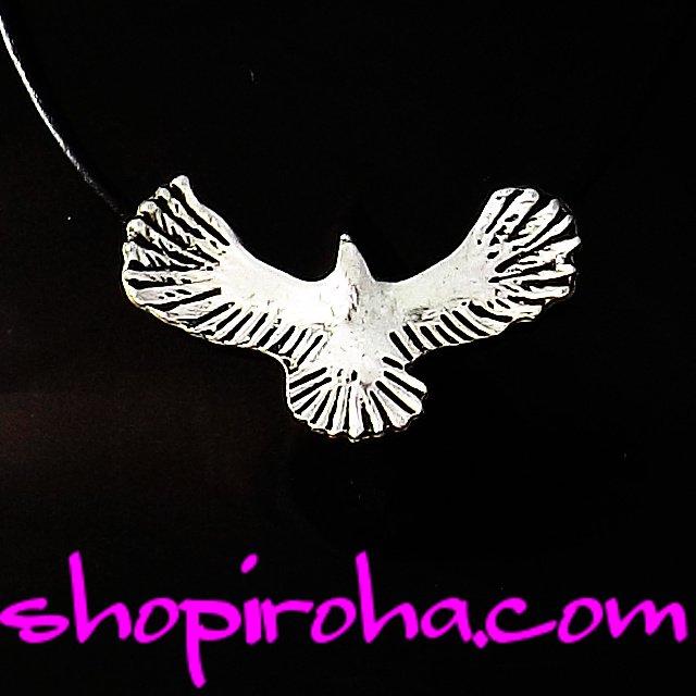 イーグルネックレス・アンティーク・シルバー・カラー・ブラック・革紐・ペンダント レディース ペア メンズshopiroha.com三代目j soul brothers メンバーファン…