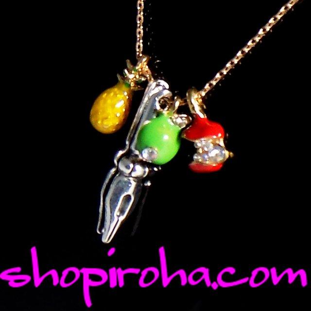 ペン パイナップル アップルペン ペンパイナッポーアッポーペン ネックレス ミニパイナップル ペンダント Pen Pineapple Apple Pen necklace shopiroha.com送料無料
