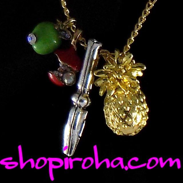 ペン パイナップル アップルペン ペンパイナッポーアッポーペン ネックレス キラキラパイナップル ペンダント Pen Pineapple Apple Pen necklace shopiroha.com送料無料