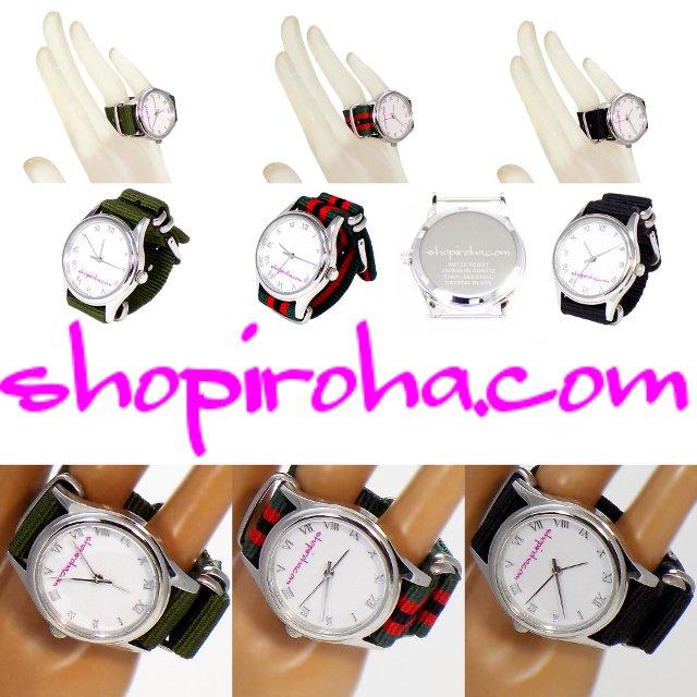 指輪時計・ダブルフィンガー・リングウォッチ・指時計・防水・NATOストラップ・ベルトタイプ