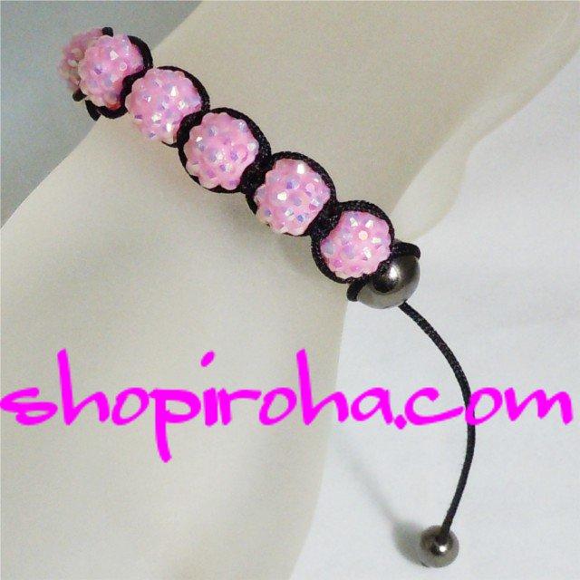 シャンバラブレス・ピンク桃色・レディース・ペア・メンズ 10色