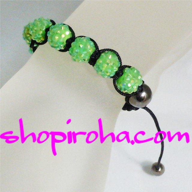 シャンバラブレス・グリーン緑・レディース・ペア・メンズ 10色