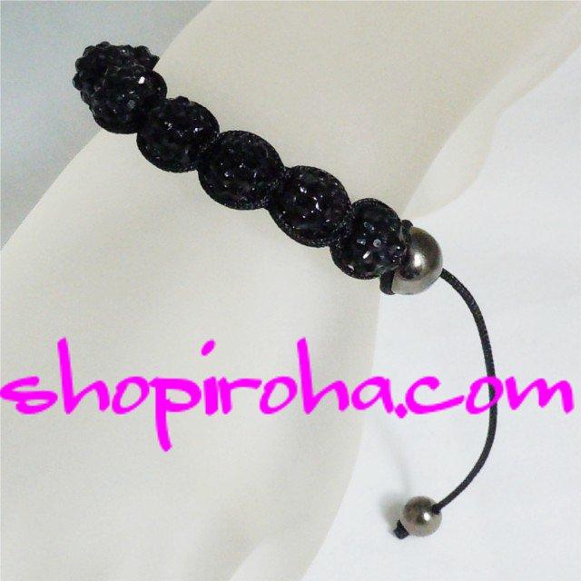 シャンバラブレス・ブラック黒・レディース・ペア・メンズ 10色