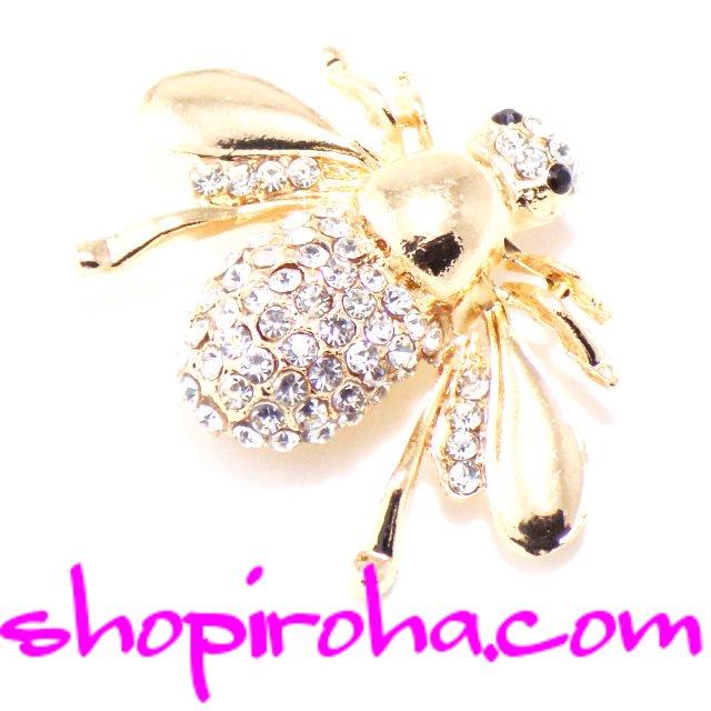 キラキラ・女王蜂・ブローチ・Queen Bee・バッグチャーム・アクセサリー shopiroha.com 送料無料