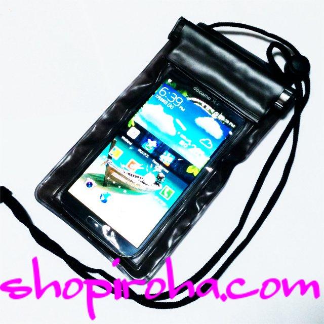 防水スマホケース・iPhone 6 plusサイズまで対応ブラック黒 送料無料shopiroha.com