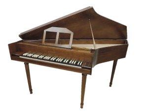 スピネットチェンバロ(縞黒檀鍵盤) 三創楽器
