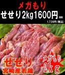 ■業務用■メガ盛り■宮崎県産★若鶏せせり(2kg)<br>※100gあたり約86円(税込)