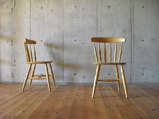 Beech Wood Windsor Chair - A