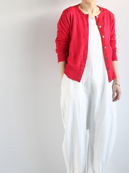 eleven 2nd Fine Linen Silk Button Cardigan