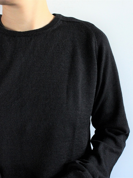 eleven 2nd Fine Wool Linen Round Neck Jumper