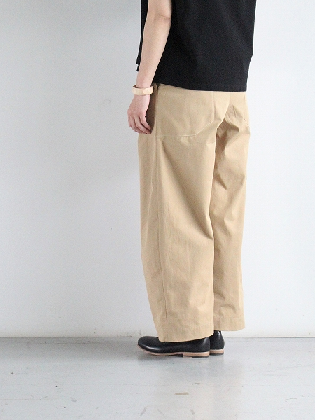 ASSEDONCLOUD HW wide trousers コーデュラツイル