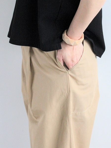 ASSEDONCLOUD HW wide trousers CORDURA twill