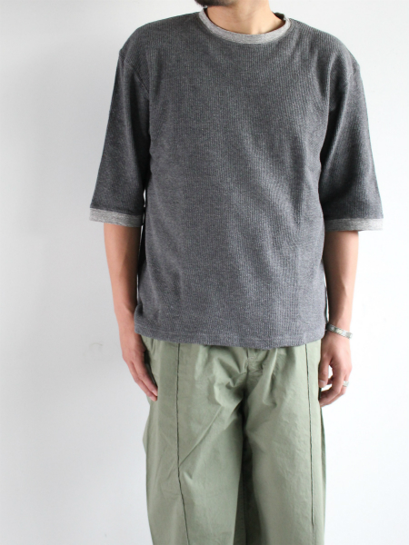 着もちいい服 F/W FACE THERMAL M/S T-SHIRT
