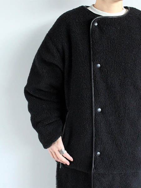 NORTH BY NORTHEAST RIVERSIBLE LONG BOA COAT