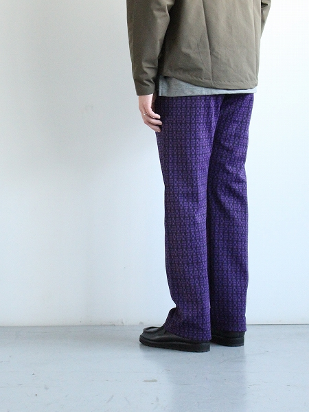 NEEDLES Track Pant - Poly Jq / HOUNDTOOTH