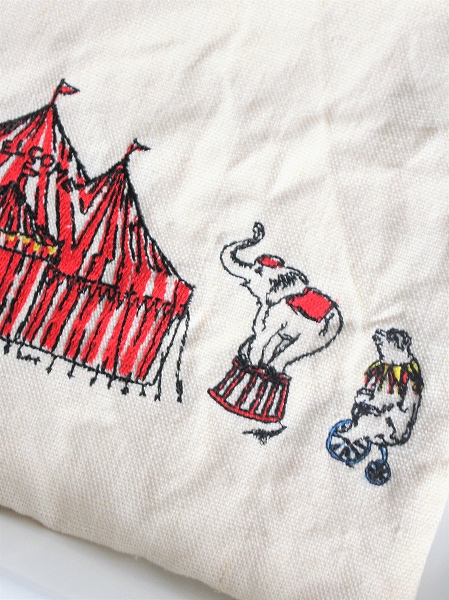 R&D.M.Co-(オールドマンズテイラー) CIRCUS EMBROIDERY POUCH(ポーチ)