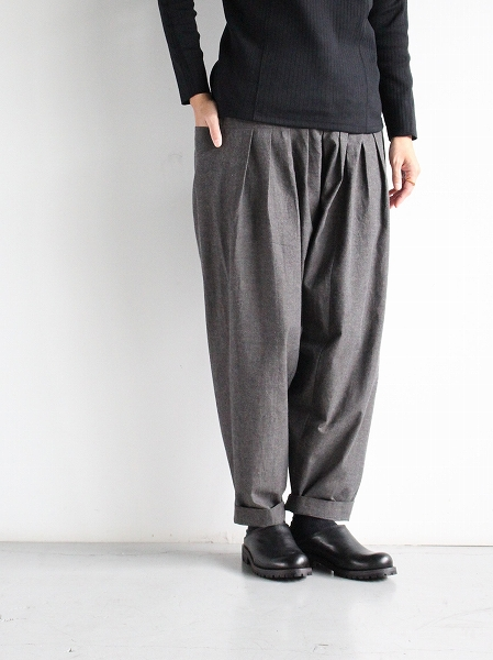 THE HINOKI Cotton Horse Cloth 5Tuck Pants