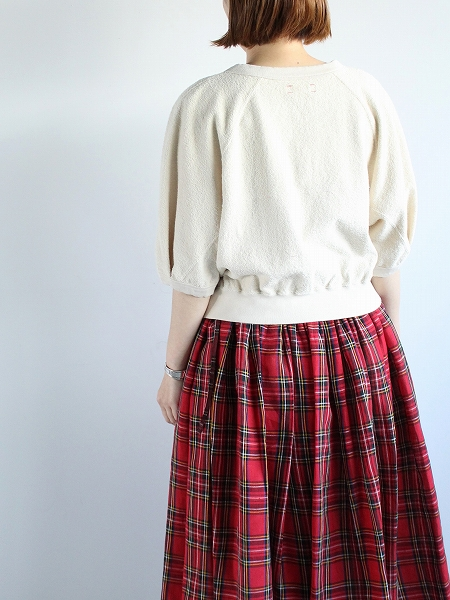unfil アンフィル / vintage cotton-pile cropped top
