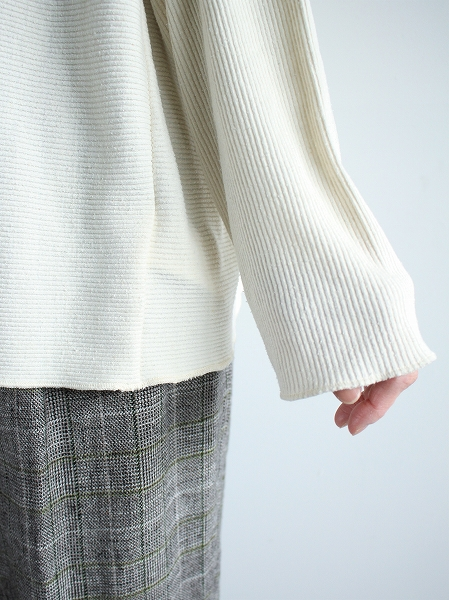 unfil raw silk ribbed-jersey boatneck Tee