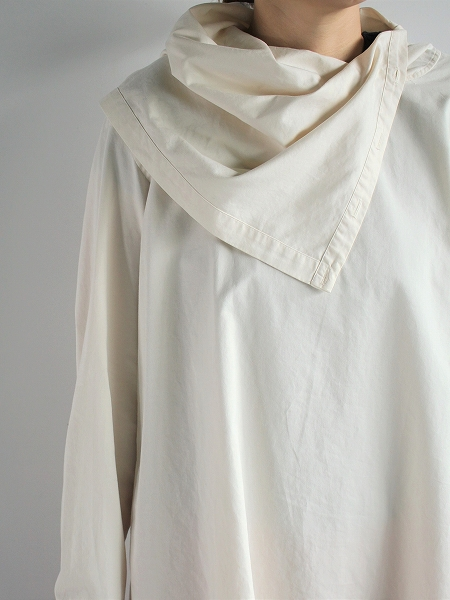 unfil egyptian cotton-satin off turtle pullover
