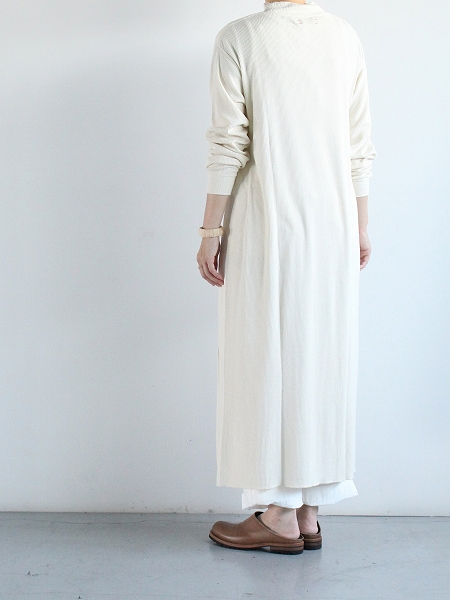 unfil raw silk ribbed-jersey T-shirt dress