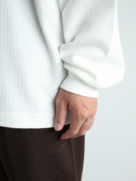 blurhms ROOTSTOCK (ブラームス ルーツストック) Rough&Smooth Thermal Crew-neck L/S
