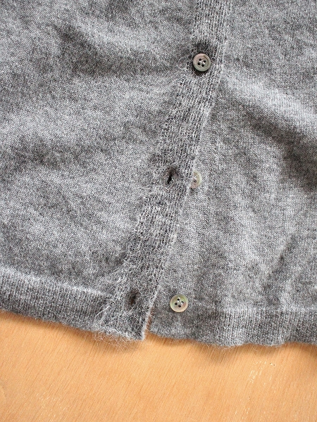 eleven 2nd Cashmere / Mohair-Front Cardigan