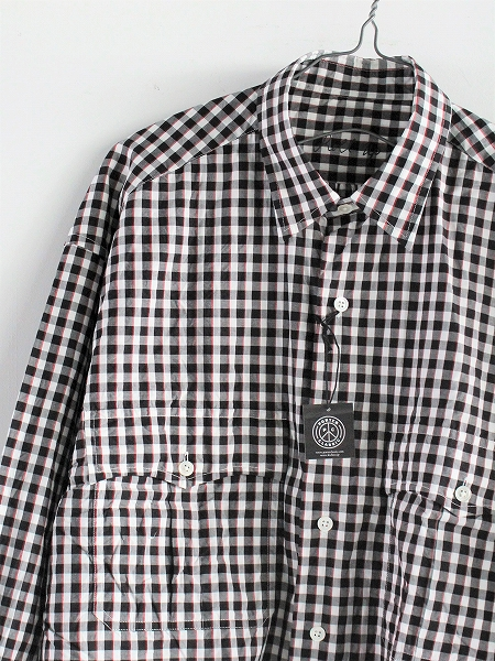 Porter Classic ROLL UP TRICOLOR GINGHAM CHECK SHIRT