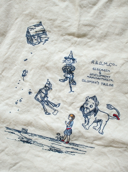 R&D.M.Co- / OLDMANS'TAILOR(オールドマンズテイラー)OZ EMBROIDERY TOTE BAG