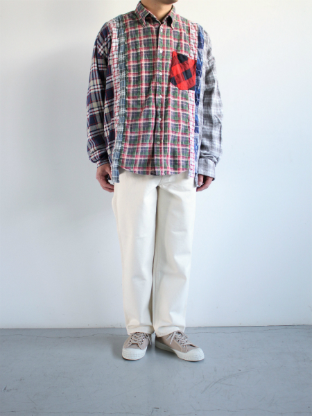 Rebuild By Needles Flannel Shirt → Wide 7 Cuts Shirt