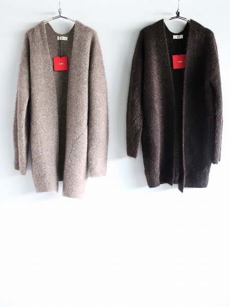 unfil stretch superkid mohair cardigan