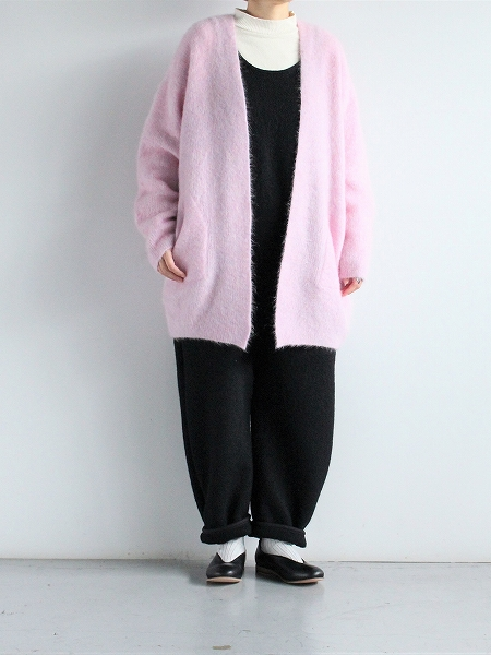 unfil stretch superkid mohair cardigan 2020AW
