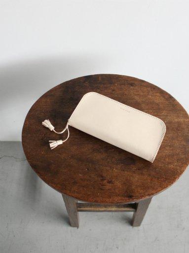 Hender Scheme zip pen case / natural ×white