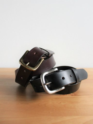 TORY LEATHER Plain Belts / With Square Type Buckle (MENS & LADIES)