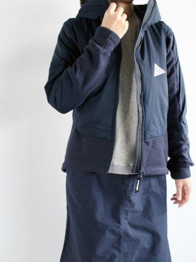 and wander twill fleece jacket navy mens ladies alpoa online