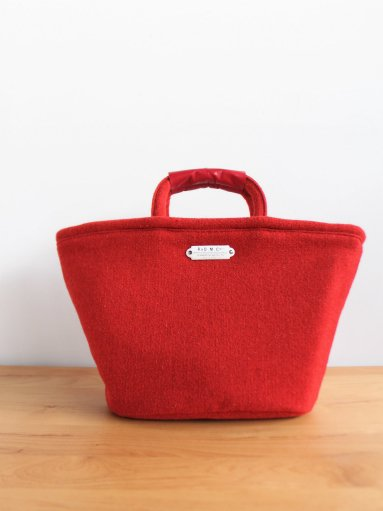R&D.M.Co- RED TWEED MARCHE BAG SMALL